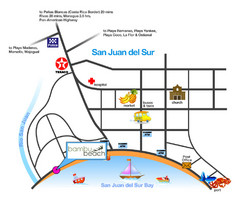 San Juan Del Sur Tourist Map