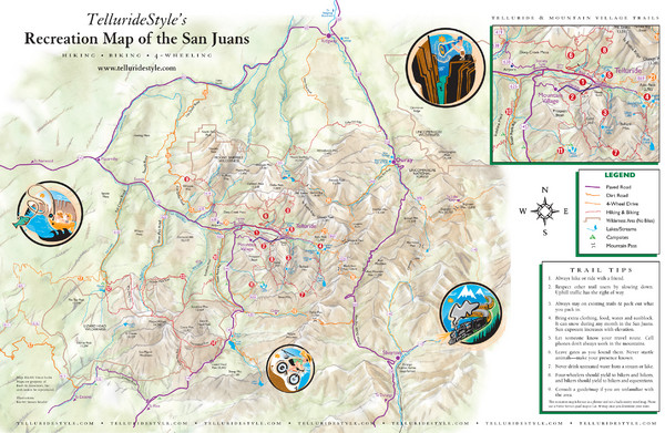 San Juan Mountains Trail Map   San Juan Mountains CO • mappery