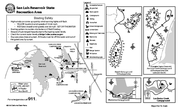 San Luis Reservoir State Recreation Area Campground Map