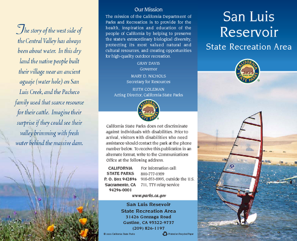 San Luis Reservoir State Recreation Area Map