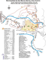 San Marcos Sierras Tourist Map