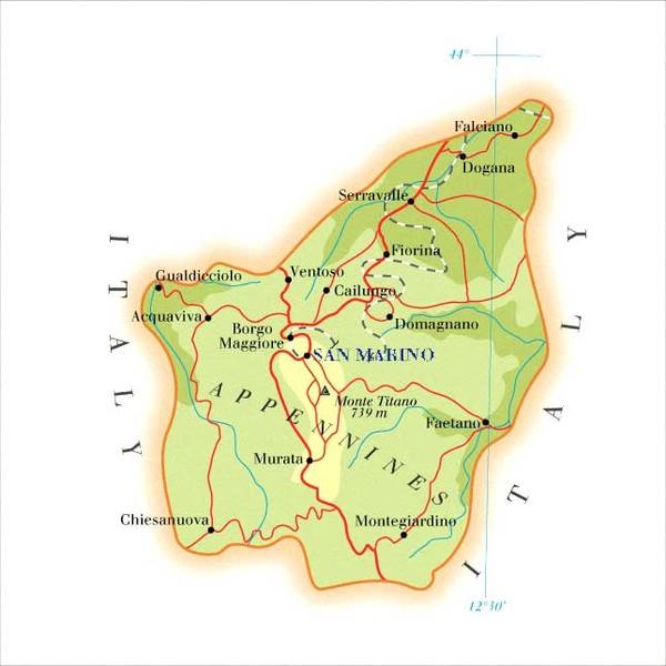 San Marino Maps Mappery