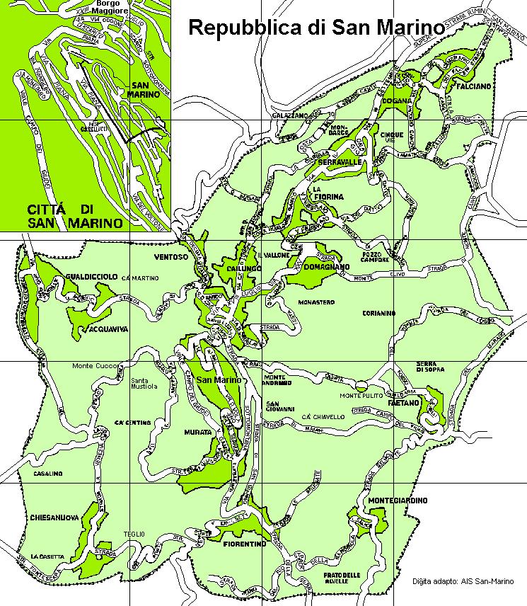 San Marino Road Map - San Marino • mappery