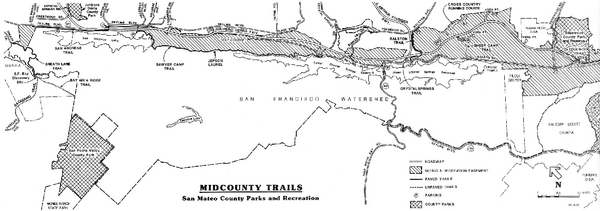 San Mateo County Mid-County Trail Map
