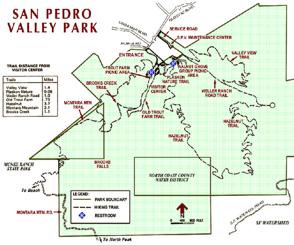 San Pedro Valley Park Map