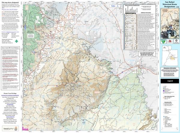 Manti Utah Map San Rafael Utah Trail Map