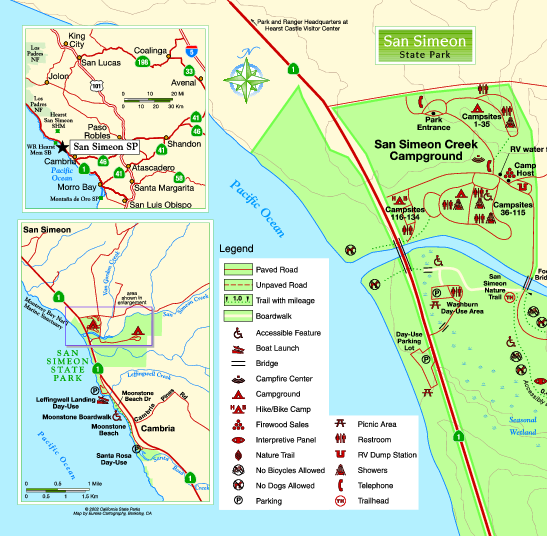 San Simeon State Park West Map - San Simeon State Park ... on south el monte map, pismo beach map, moonstone beach map, yorba linda map, morro bay state park map, hearst castle map, pico rivera map, santa cruz map, van nuys map, hearst mansion map, casmalia map, carmel bay map, santa susana pass map, cayucos map, gorda map, lake san antonio map, yosemite national park map, mission san luis obispo map, turlock map,