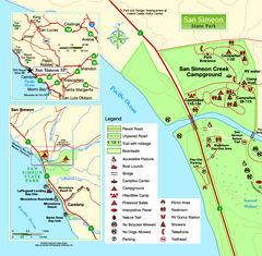 San Simeon State Park West Map