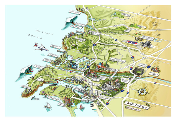 San Diego Map Attractions – Tourist Attractions Map In San Diego
