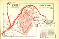 Sancerre Town Map