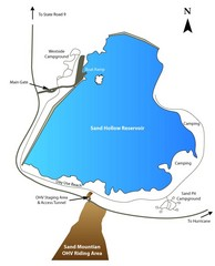 Sand Hollow State Park Map