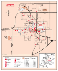 Sand Ridge State Forest, Illinois Site Map