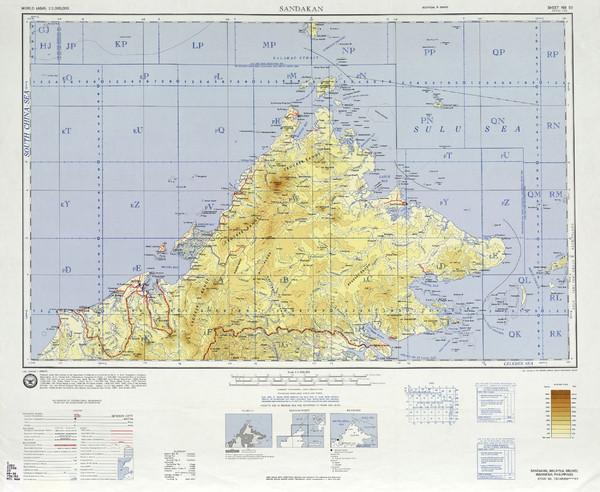 Sandakan Malaysia  city pictures gallery : Sandakan Topo Map Sabah Malaysia • mappery