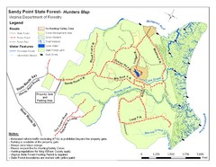 Sandy Point State Forest Hunting Map