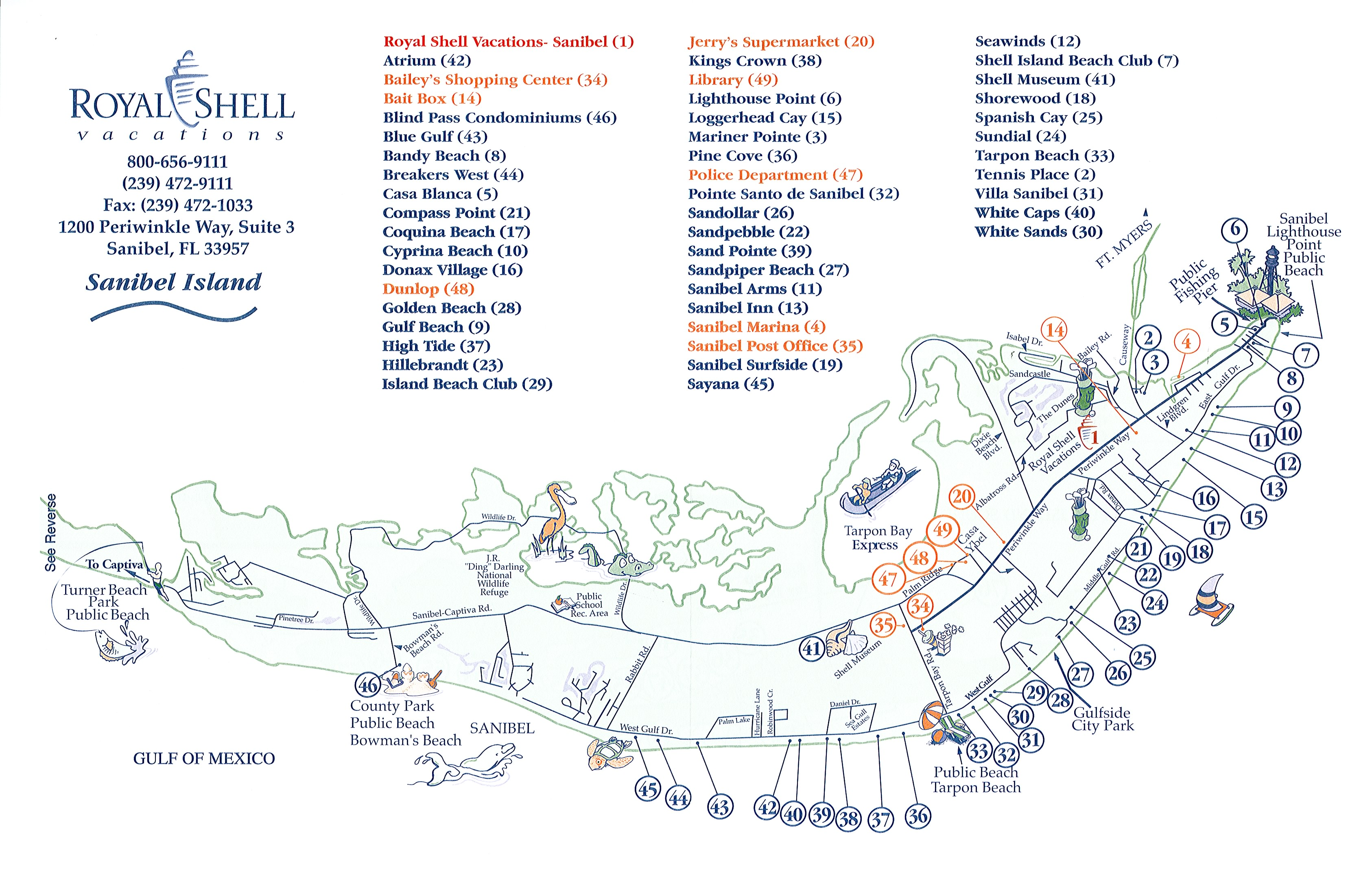 sanibel island tourist map  sanibel island florida • mappery -