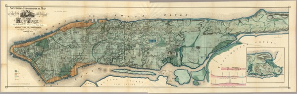 Sanitary & Topographical Map of the City and Island of New York