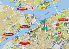 Sankt Petersburg Tourist Map