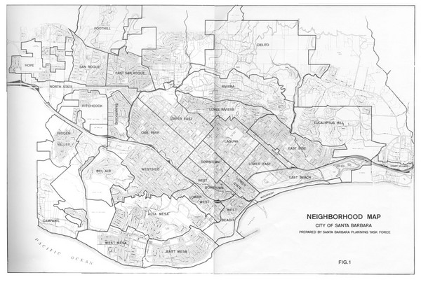 Santa Barbara California Map.Santa Barbara California City Map Santa Barbara California Mappery