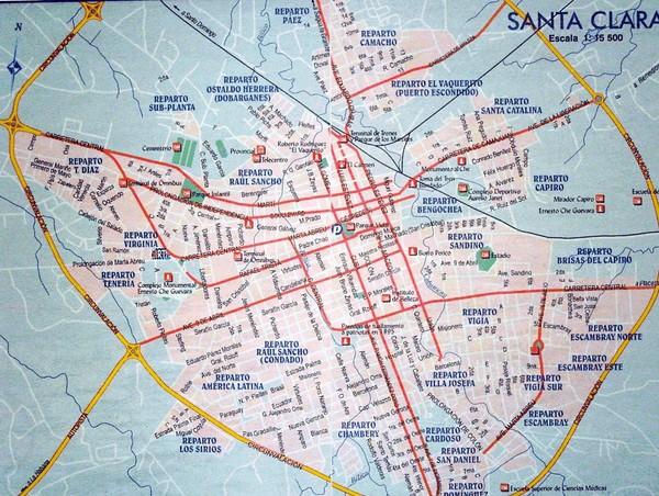 Santa Clara Map Santa Clara Cuba • mappery