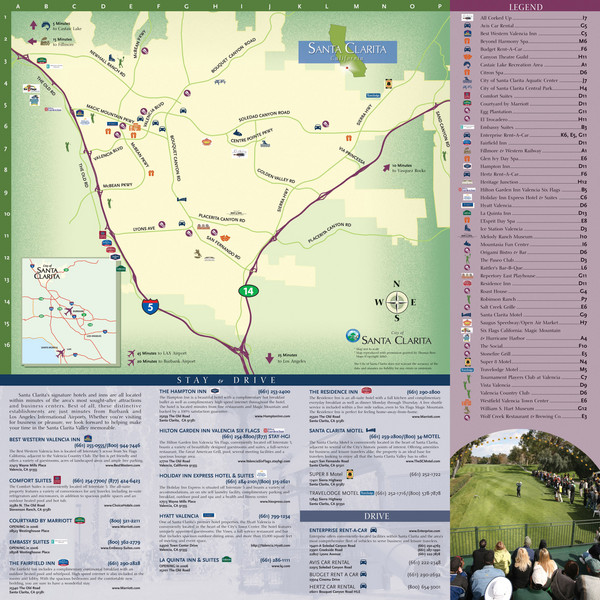 Santa Clarita Tourist Map