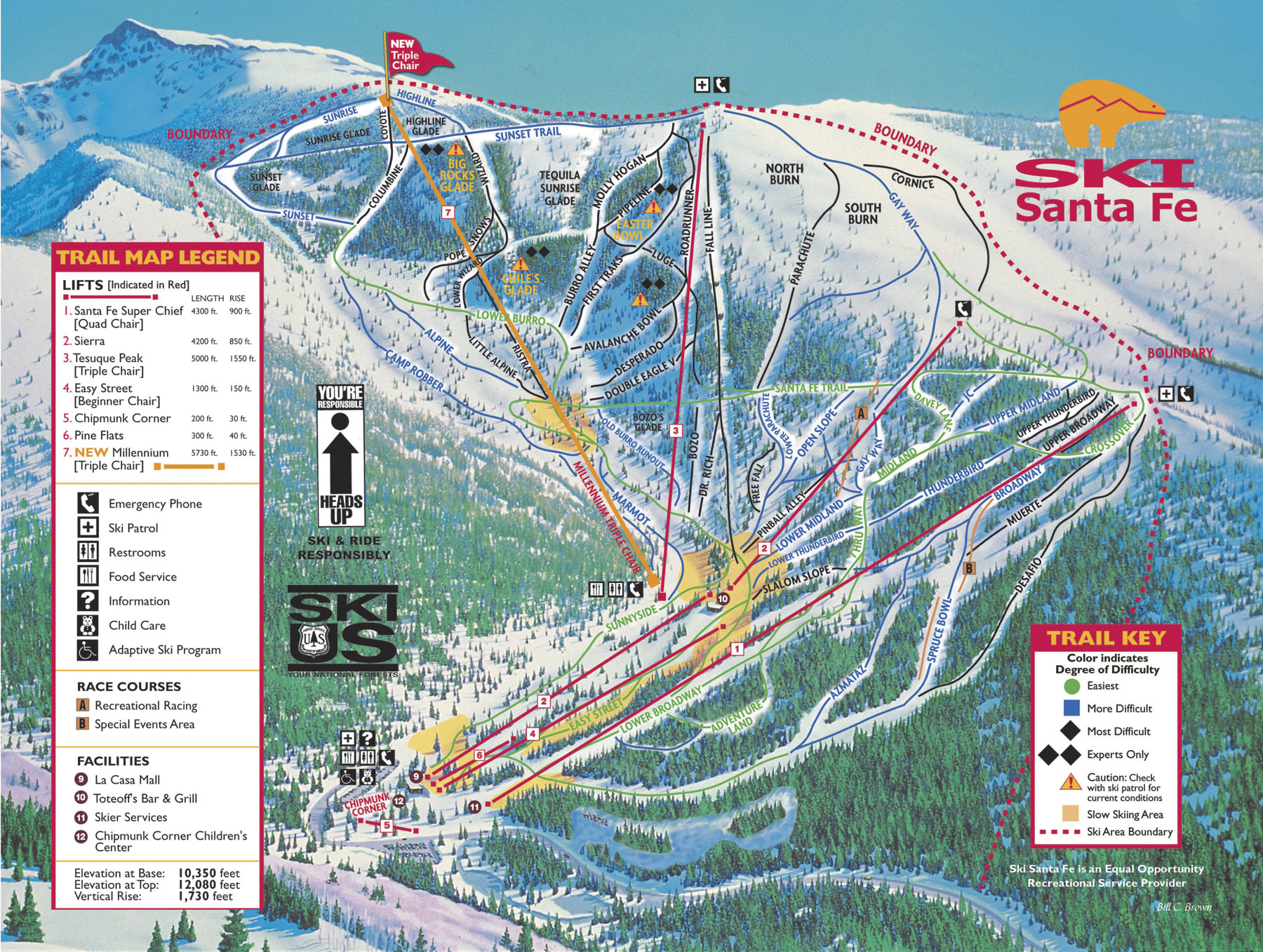Santa Fe New Mexico Ski Map  Santa Fe New Mexico  Mappery