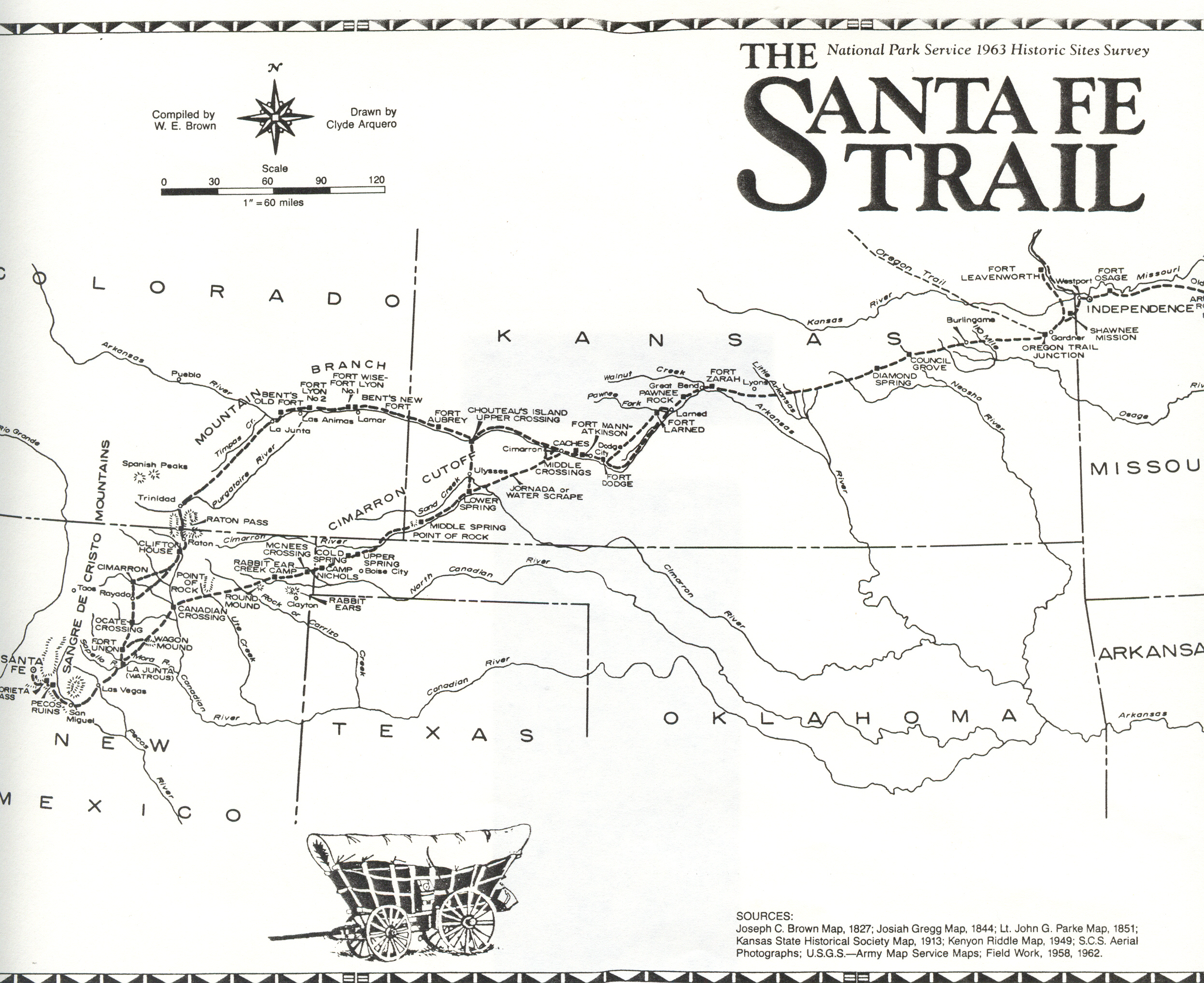 Santa fe trail map see map details from jocohistory org created 1827
