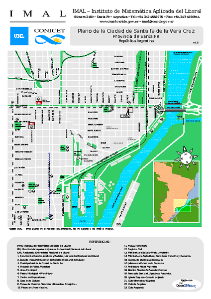 Santa Fe de la Vera Cruz Tourist Map