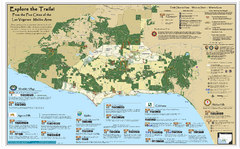Santa Monica Mountains Area Trail map