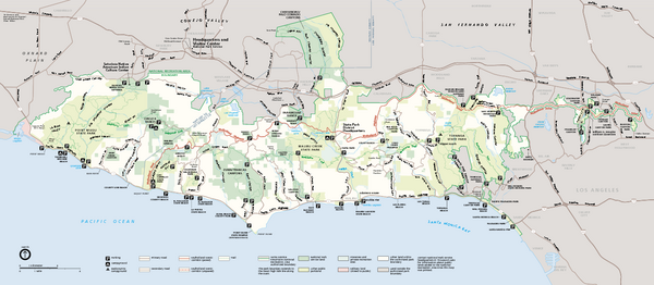 Santa Monica Mountains National Recreation Area Map