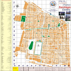 Santiago Center Map