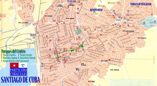 Santiago de Cuba Map Santiago de Cuba Cuba mappery