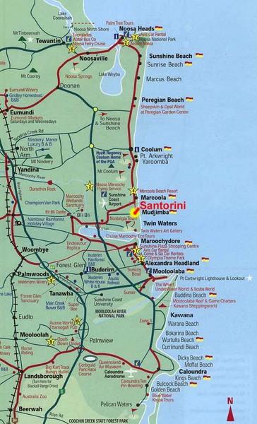 Santorini Greece Beach Tourist Map Santorini Greece Mappery