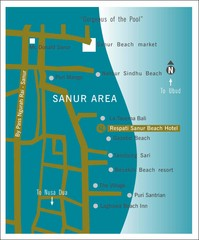 Sanur Tourist Map
