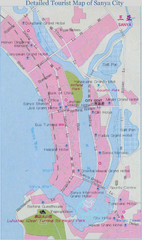 Sanya City Tourist Map