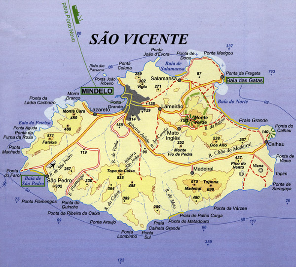 Sao Vicente Map