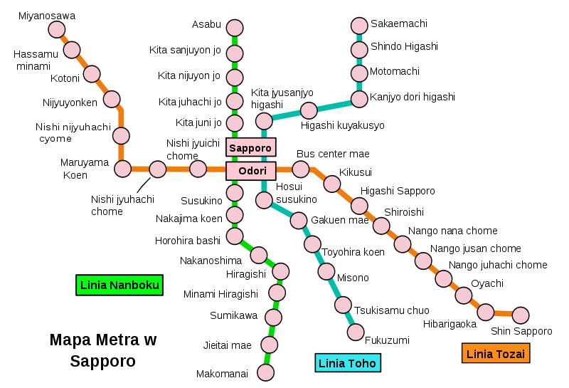 Sappora subway map see map details from upload wikimedia org