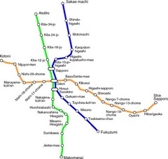 Sapporo Subway Map.Sappora Subway Map Sappora Mappery