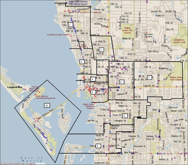sarasota florida map streets