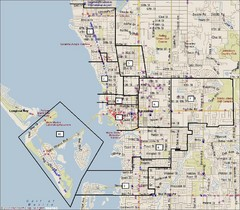 Sarasota, Florida City Map
