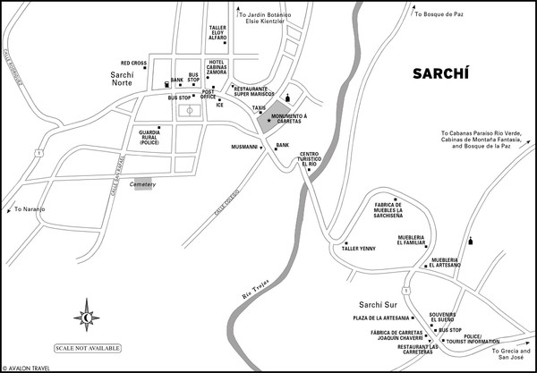 Sarchi Costa Rica Map