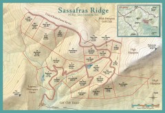 Sassafras Ridge Shaded Relief Map