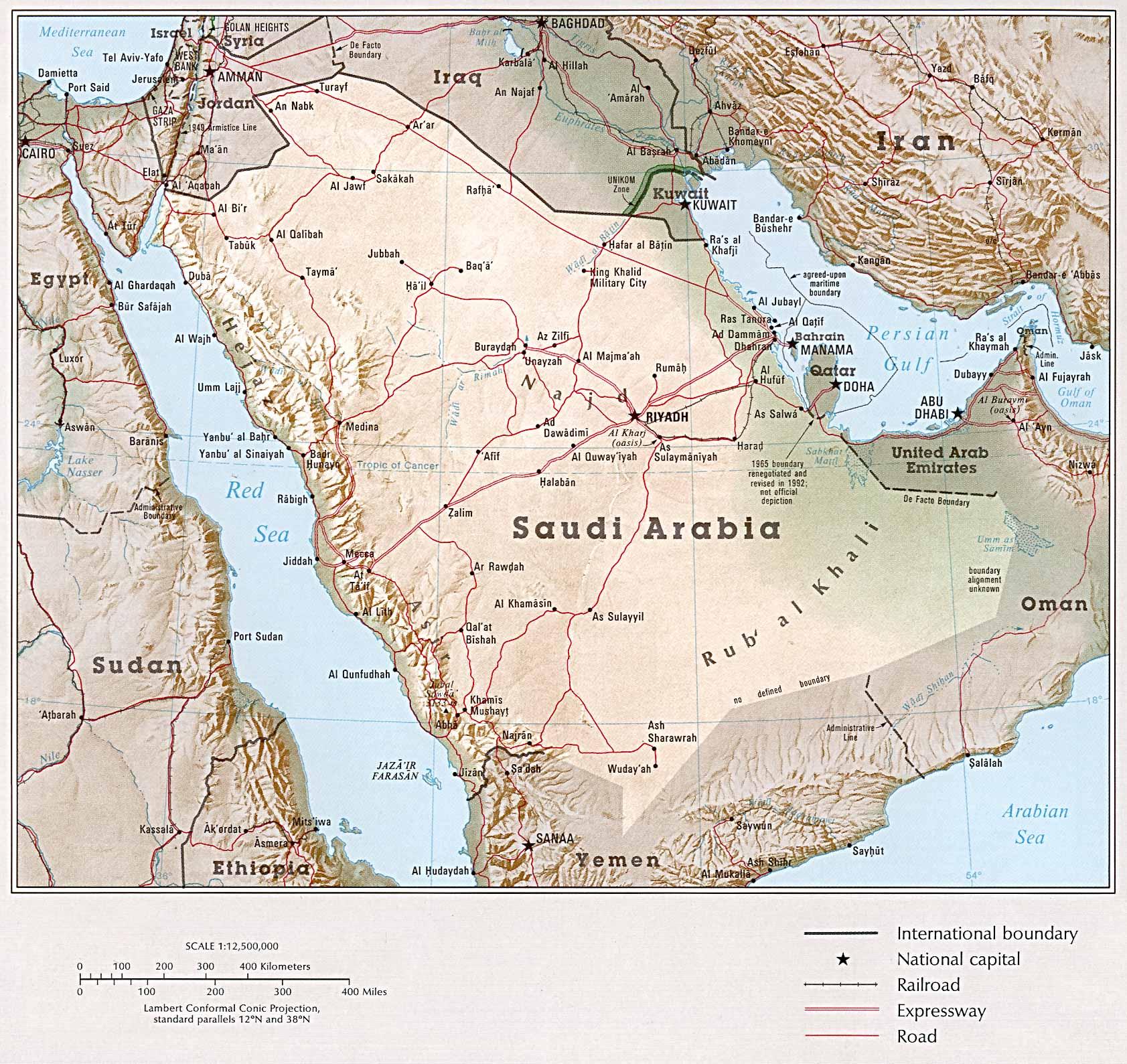 Saudi Arabia Map mappery