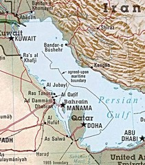 Saudi Arabia on the Persian Gulf Map