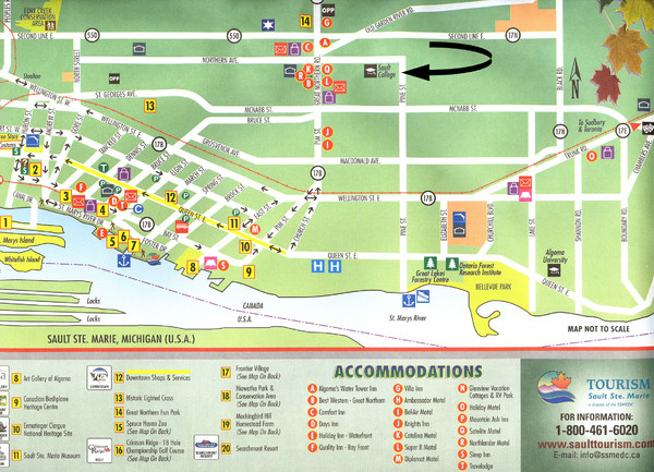 Sault Ste Marie Tourist Map - Sault Ste Marie Ontario • mappery on chicago attractions map, birmingham attractions map, milwaukee attractions map, new haven attractions map, yellowstone national park attractions map, fire island attractions map, venice attractions map, macomb county attractions map, south bass island attractions map, roosevelt island attractions map,