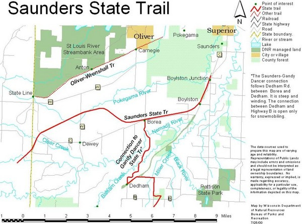Saunders State Trail Map