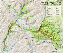 Sausal Creek Watershed Trail Map