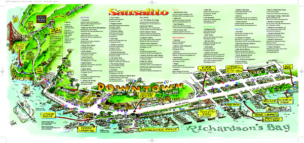 Sausalito Tourist Map Sausalito California mappery – Tourist Attractions Map In California