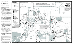 Savanna Portage State Park Winter Map