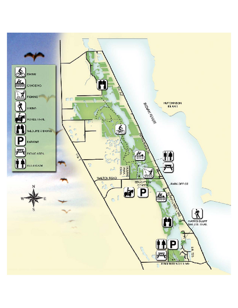 Savannas Preserve State Park Map