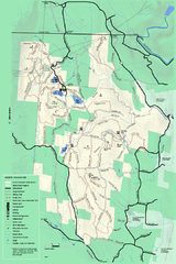 Savoy Mountail trail map